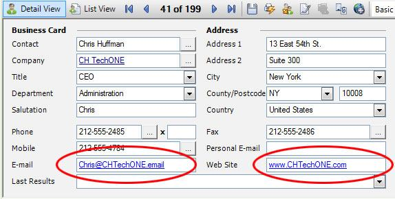 Editing E-mail and Website Addresses-fig1