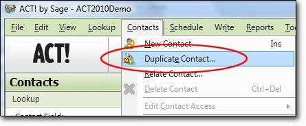 Duplicating a Contact-fig1